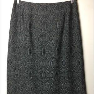 Pendleton long grey paisley print 100 % wool skirt